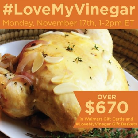 Let's Talk Flavor at #LoveMyVinegar Twitter Party Nov. 17th