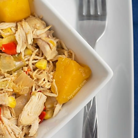 Healthy Slow Cooker Mango Chicken