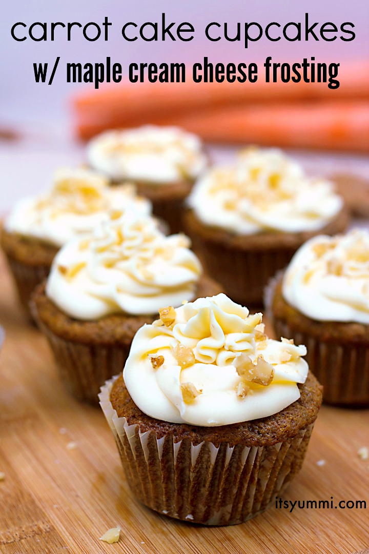 titled image of homemade carrot cake cupcakes