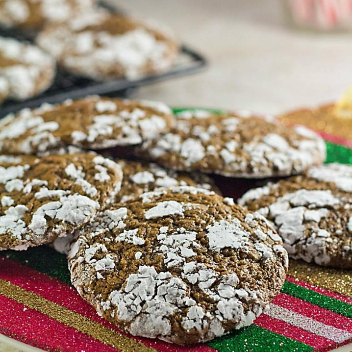 These low carb chocolate crinkles are a skinny version of the classic Christmas cookie. They're dye free holiday cookies, too!