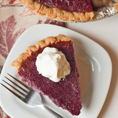 Stokes Purple® sweet potato pie recipe, using gorgeous purple sweet potatoes from Frieda's Produce. Get the recipe on ItsYummi.com