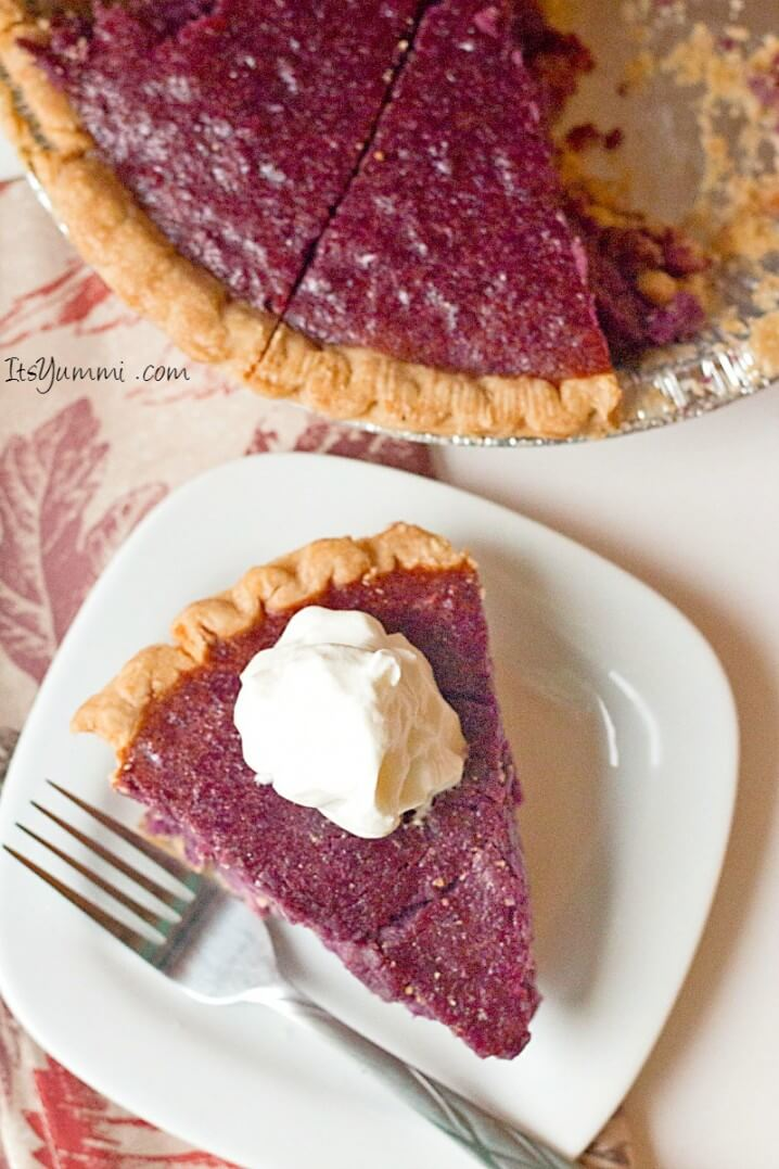 Purple sweet potato pie recipe, This southern classic dessert was made using gorgeous purple sweet potatoes. Get the recipe on ItsYummi.com