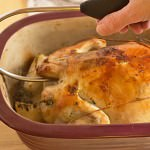 Get Chef Becca's tips for roasting a whole chicken or turkey, and how to make delicious gravy!