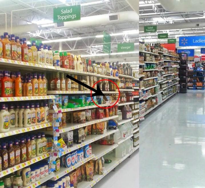 salad dressing aisle of Walmart