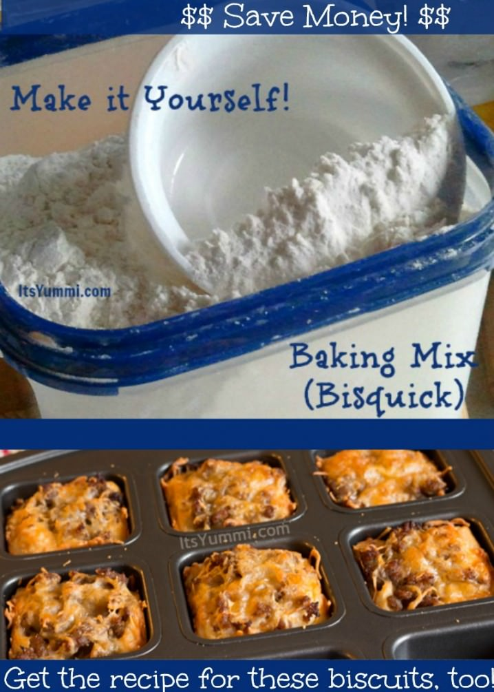 Homemade Dry Baking Mix (DIY Bisquick) - Make it yourself at home and save lots of money, and skip the chemicals, too!