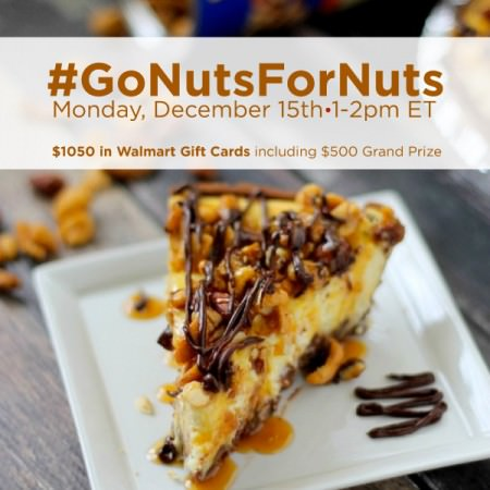 Join us at the #GoNutsForNuts Twitter party at 1pm EST on December 15th!