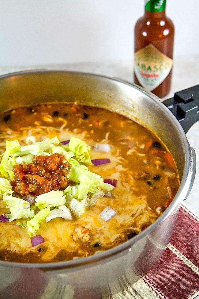 making a chicken enchilada soup recipe