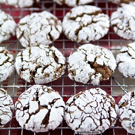 Chocolate Gingerbread Crinkles {Cake Mix Cookies}