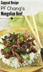 Copycat PF Changs Monglian Beef