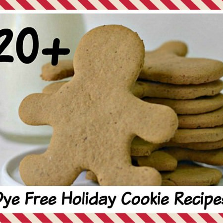 20+ Dye Free Holiday Cookies