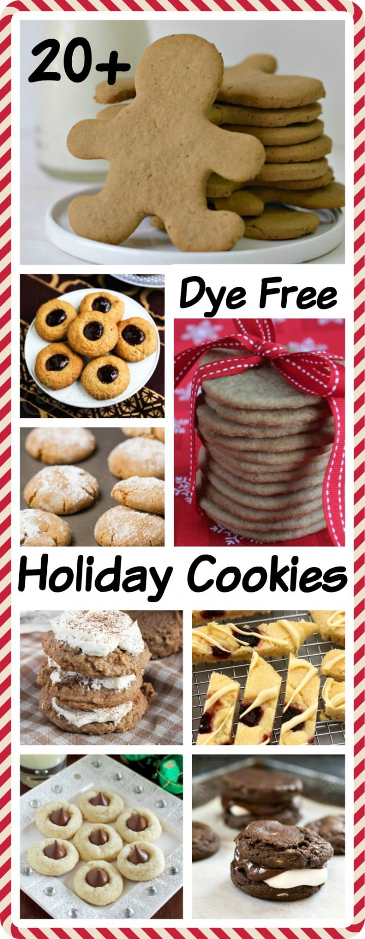 Over 20 Dye Free Holiday Cookies - Get the recipes from @itsyummi