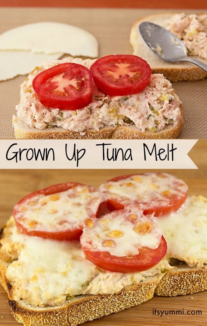 This isn't your ordinary tuna melt! This easy tuna fish recipe has jalapenos in it! Then it's spiced up with onions, celery, tomato, and Provolone cheese. The perfect comfort food lunch for grown-ups!