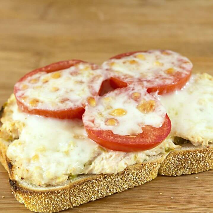 Grown up tuna melt, made with delicious canned tuna!