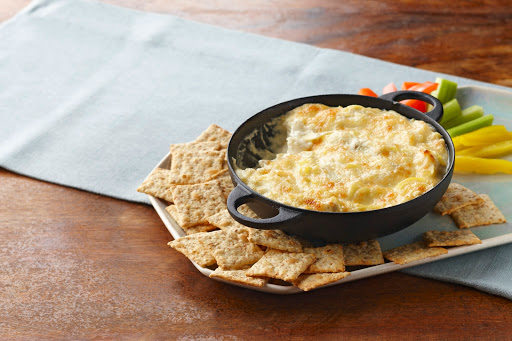 creamy hot artichoke dip from Kraft #musthavemayo #ad