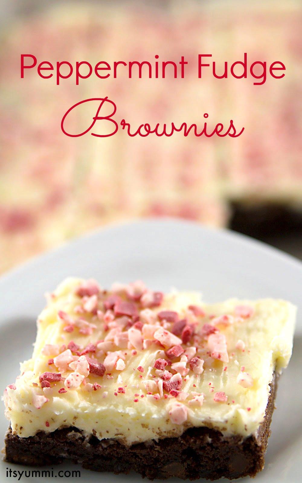 Peppermint Fudge Brownies Recipe, from ItsYummi.com