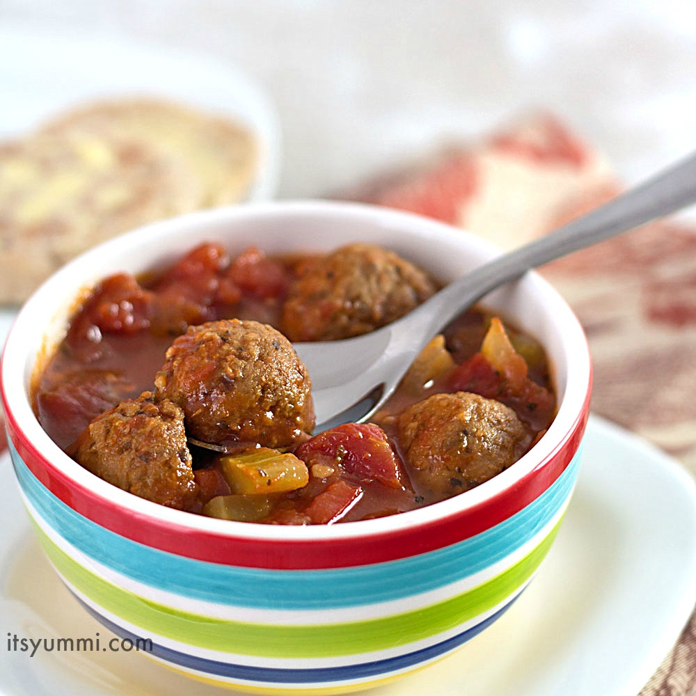 Slow Cooker Italian Meatball Soup recipe - This easy dinner is made in ...