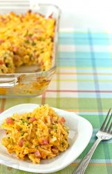 broccoli and cheese hashbrown casserole with ham