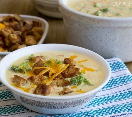 One of Christine Pittman's easy soup recipes: Broccoli Cheddar Soup