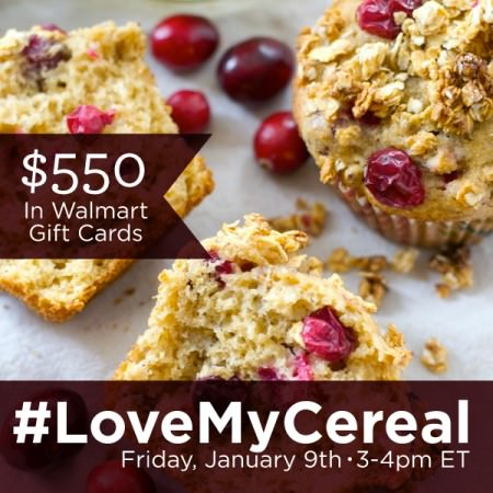 Get Recipes at the #LoveMyCereal Twitter Party!