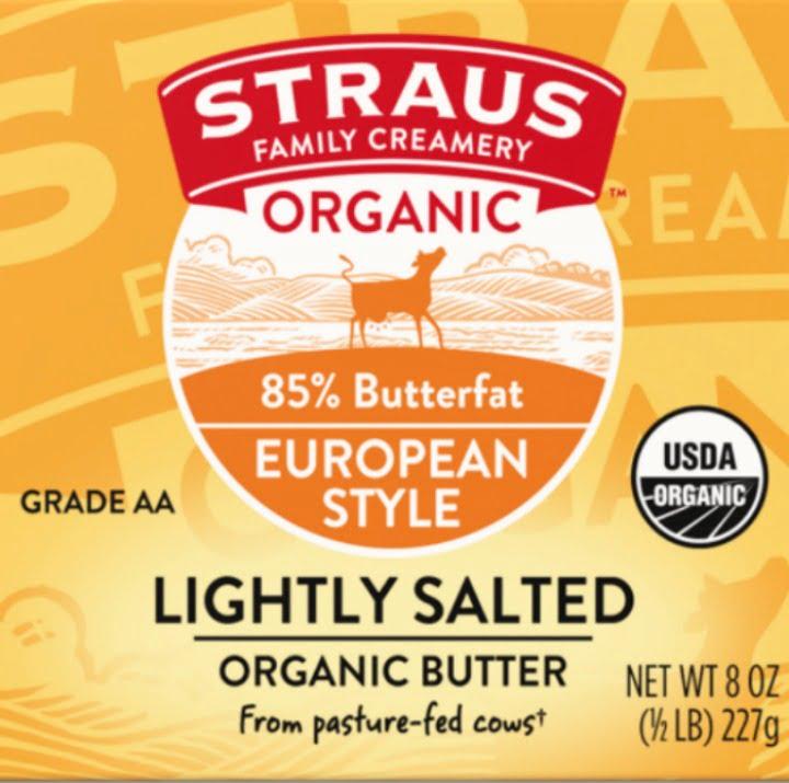 Strauss organic high butterfat butter