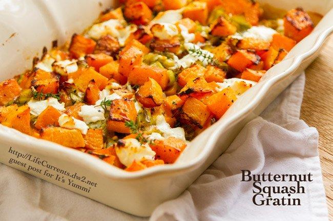 Butternut Squash Gratin recipe - a guest post on itsyummi.com from Debi at Life Currents