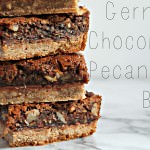 Nutty German Chocolate Pie Squares ~ A dessert recipe from Cooking with Books @nella22, guest posted on itsyummi.com