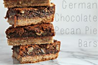 Nutty German Chocolate Pie Squares ~ A Guest Post from Cooking with Books