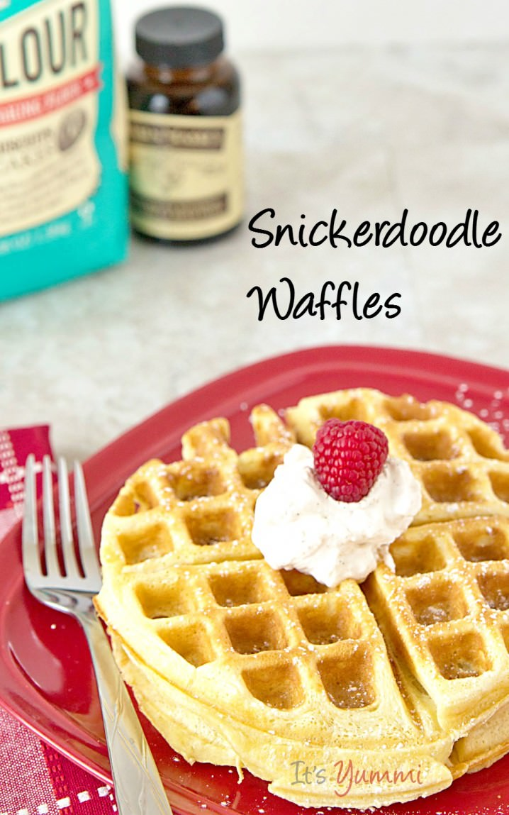 If you enjoy snickerdoodle cookies, you'll love this snickerdoodle waffles recipe! It's another one of those easy waffles recipe ideas that can be made quickly for a weekend breakfast or brunch!