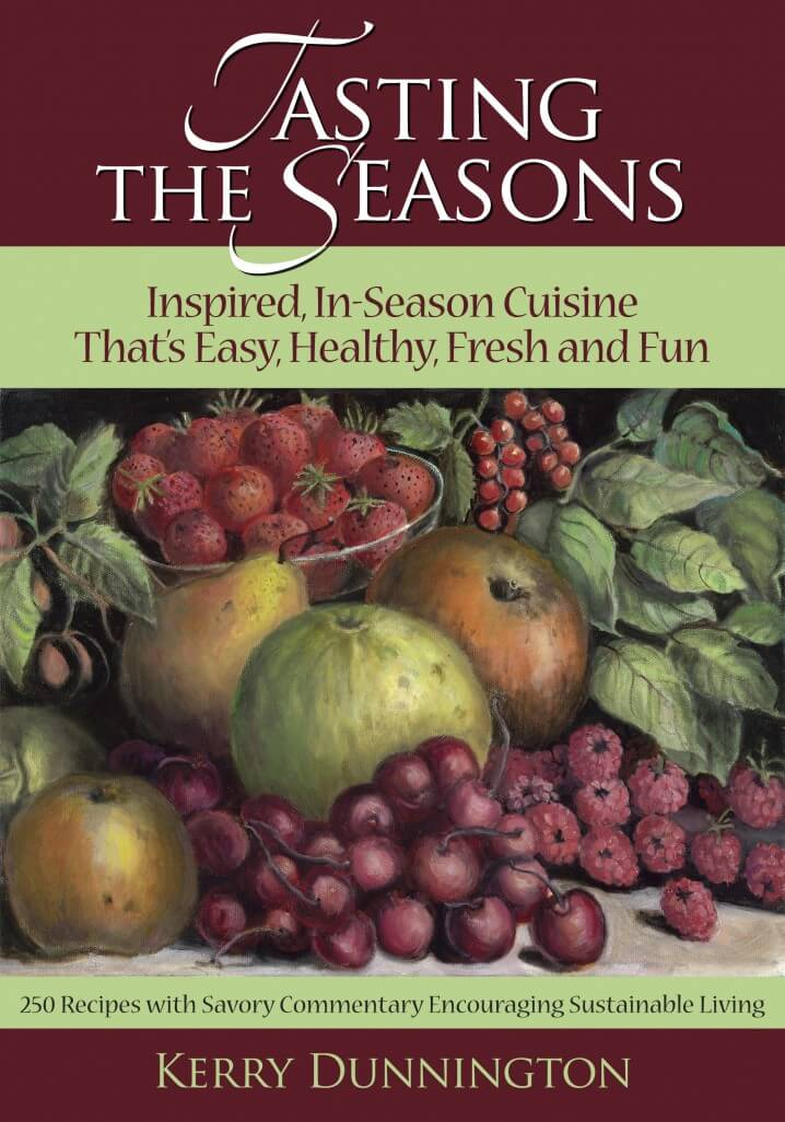 Review of Tasting the Seasons cookbook, by Kerry Dunnington - Read the review on ItsYummi.com