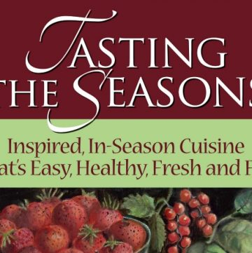 Tasting the Seasons cookbook (cover) - ItsYummi.com