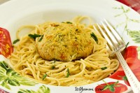 Crab Cake Scampi Recipe {Lenten option}