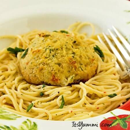 Crab Cake Scampi Recipe {Lenten option}