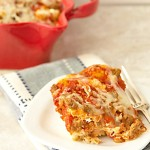 Cheese and Sausage Pizza Bake Recipe - Just 4 simple ingredients, your favorite pizza toppings and 30 minutes to a delicious dinner! From ItsYummi.com