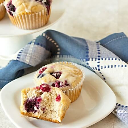 15-Minute Triple Berry Muffins Recipe