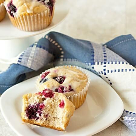 15-Minute Triple Berry Muffins Recipe