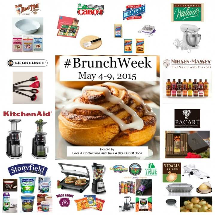 #BrunchWeek 2015 Giveaway - Prizes from 10 amazing sponsors can be yours if you head to ItsYummi.com and enter for a chance to win them!