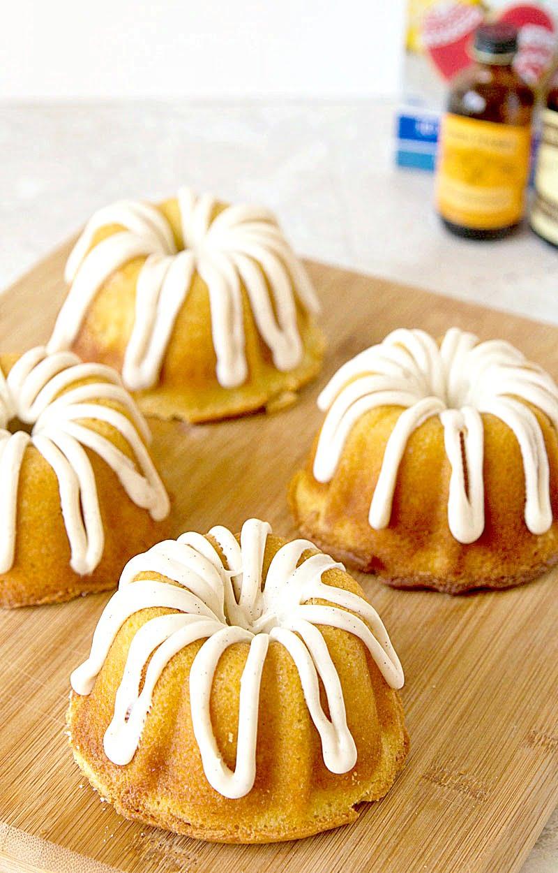 Mini Creamsicle Bundt Cake Recipe on ItsYummi.com