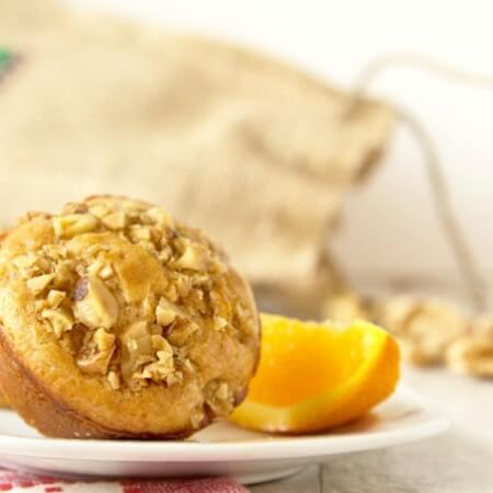Brown Butter Walnut Pancake Muffins