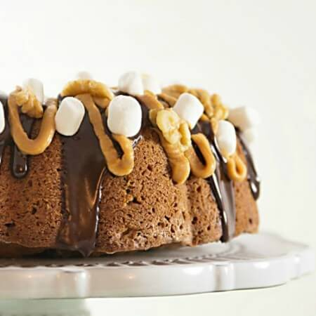 Elvis on a Rocky Road Bundt Cake Recipe