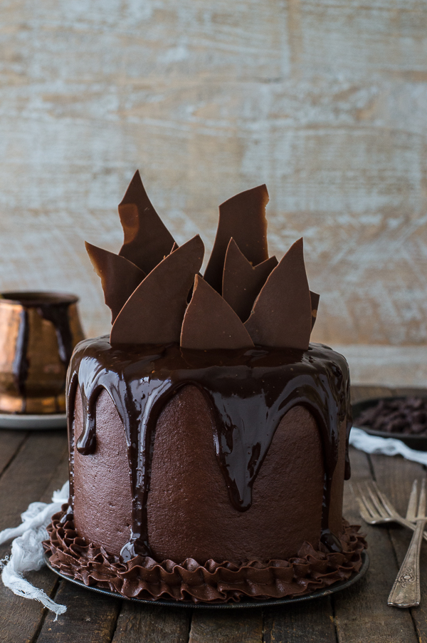 Gorgeous Chocolate Ganache Desserts Collection, including Chocolate Chocolate Cake, recipe from The First Year Blog