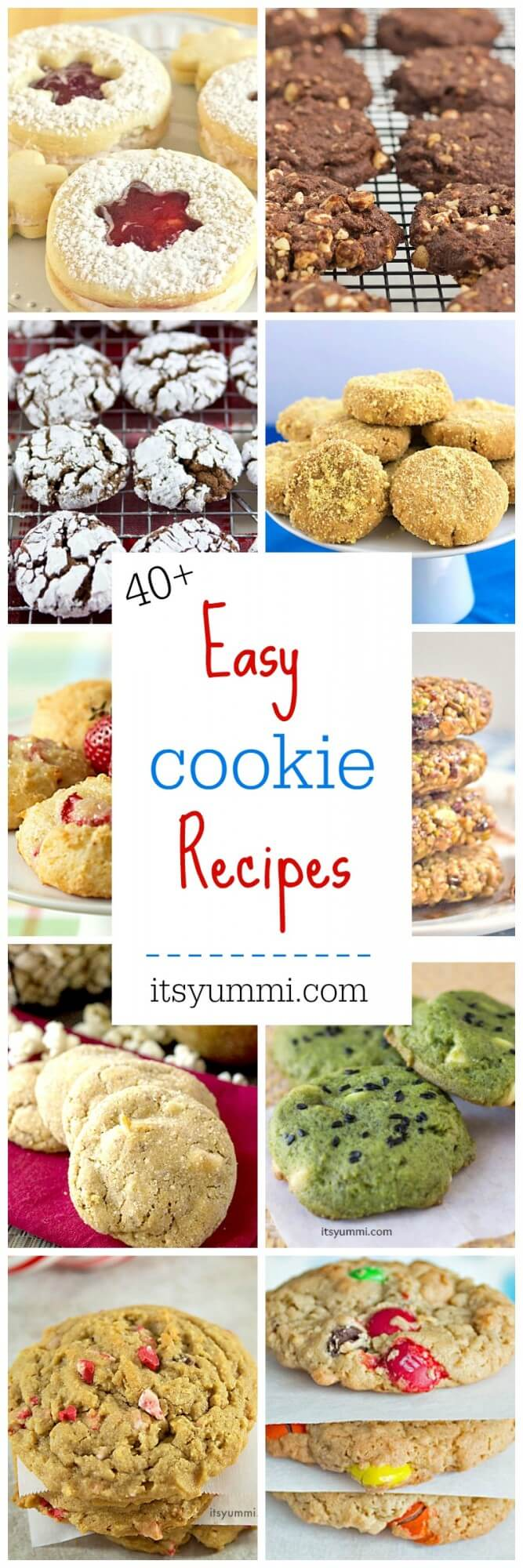 The easiest cookie recipes for 2018, all in one place! No bake cookies, cookies with nuts, and even healthier cookie recipes. See all of the easy cookie recipes for 2018 on itsyummi.com!