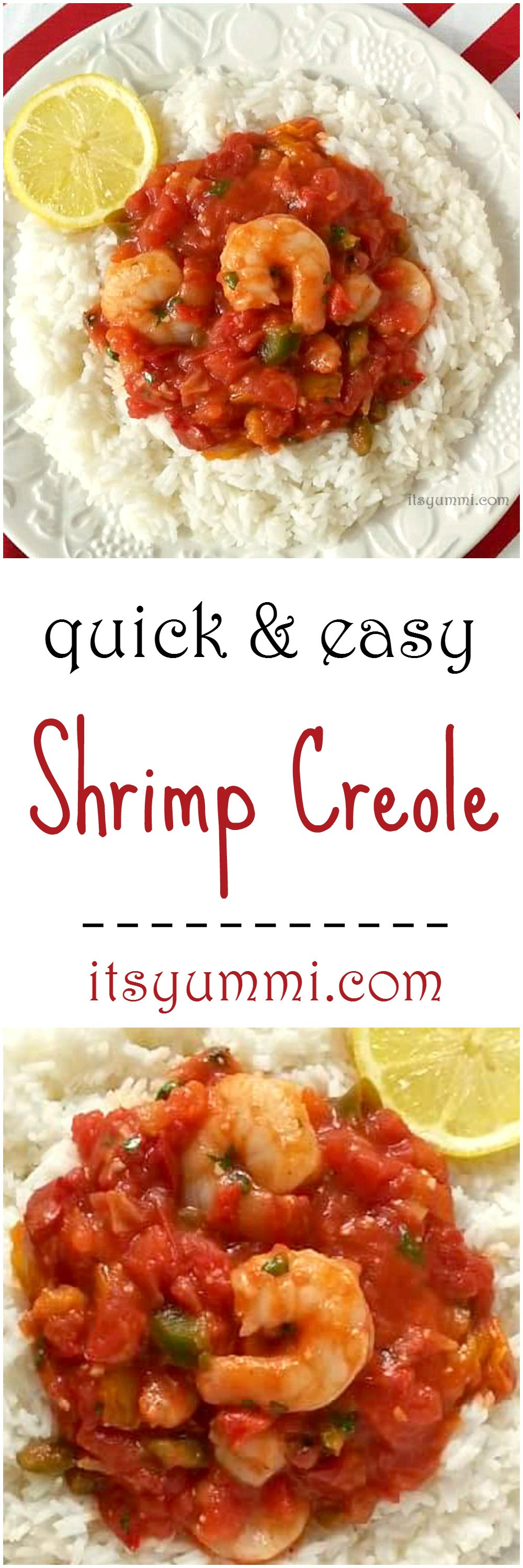 Shrimp creole recipe dinner under 30 minutes its yummi bites quick and easy shrimp creole a southern louisiana classic dinner recipe made in less forumfinder Image collections