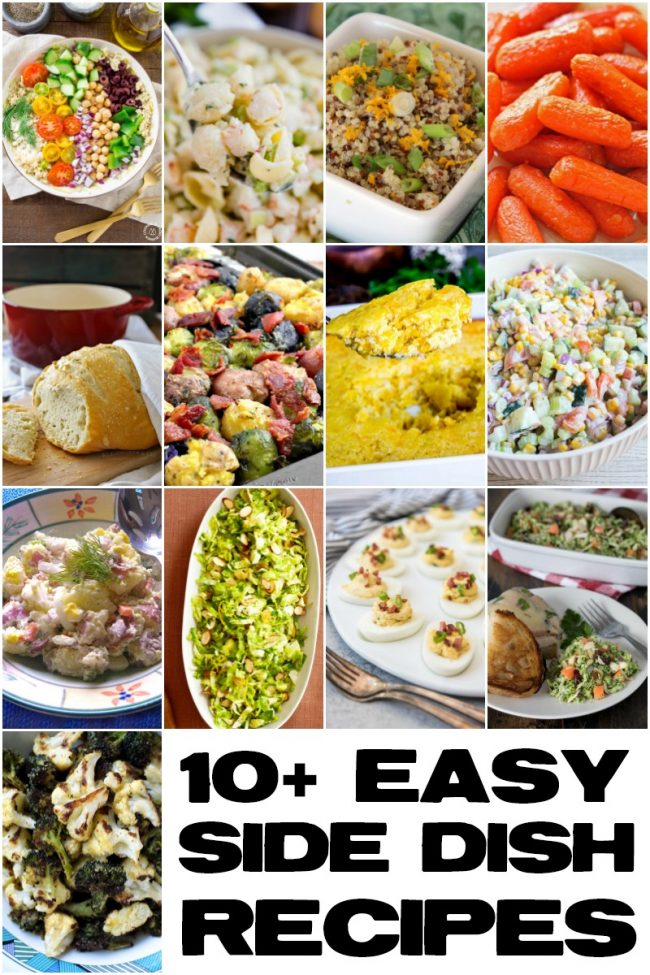 titled photo collage - 10+ easy side dishes
