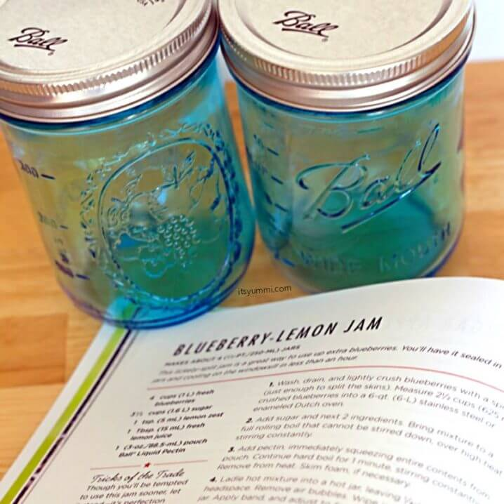 Ball Canning Elite Wide Mouth Pint Jars, in turquoise blue.