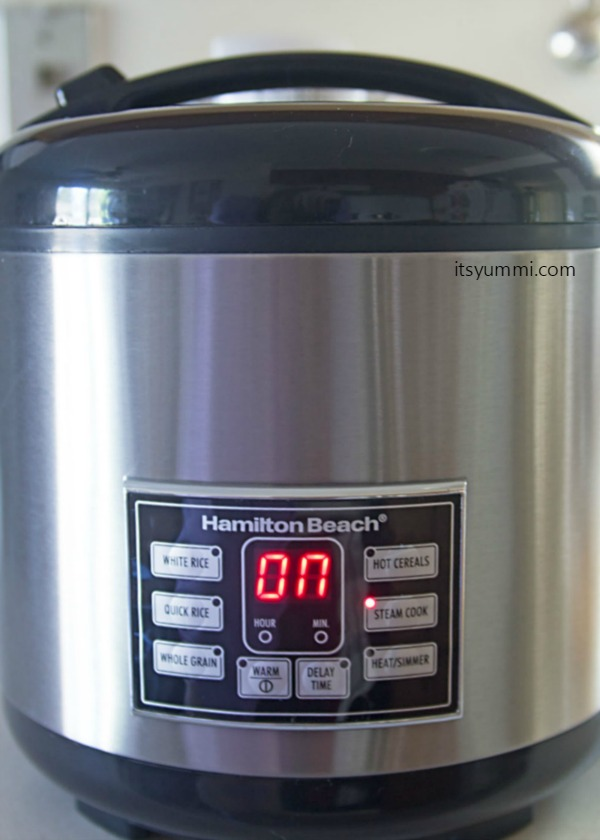 Hamilton Beach Digital Simplicity™ 4-20 Cup Rice Cooker and Steamer