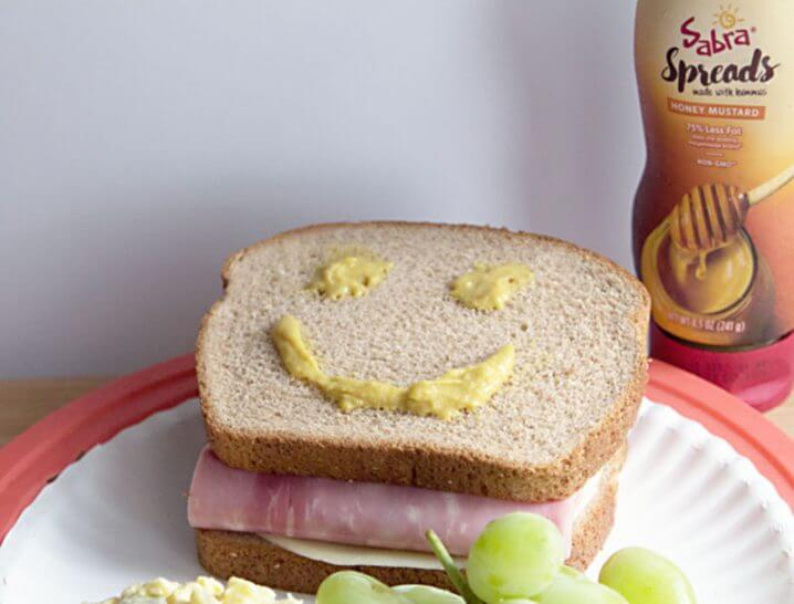 What kid wouldn't love a Sabra Honey Mustard smile in their lunch box sandwich?!