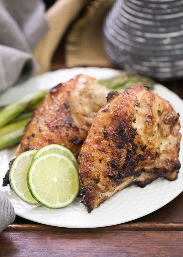 Grilled Thai Chicken from That Skinny Chick Can Bake