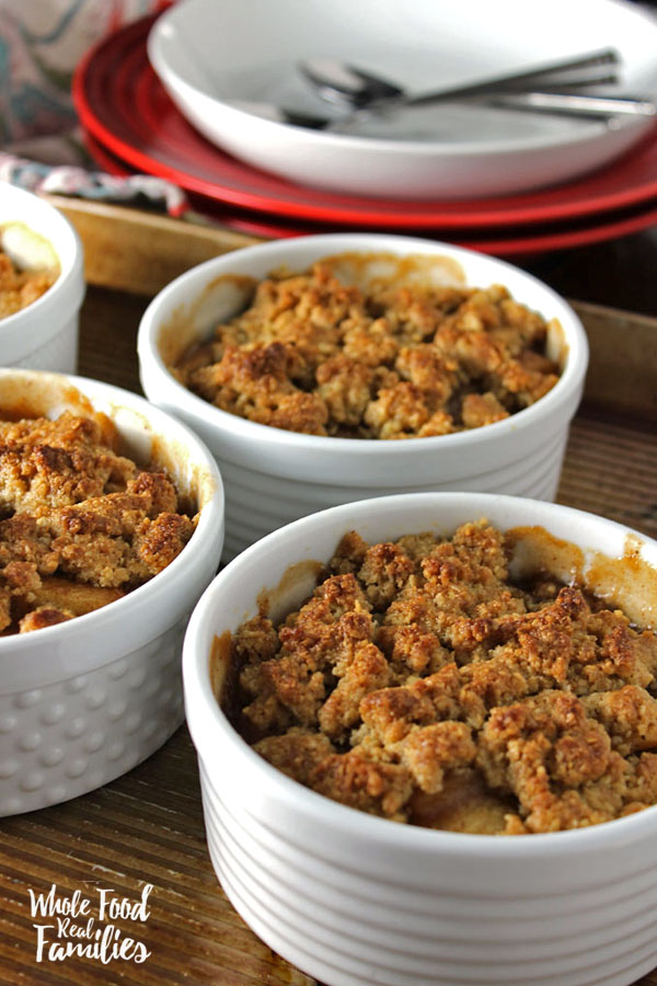 Whole Grain Apple Crumble Recipe - This is one of Fall's best apple recipes! From Whole Food Real Families