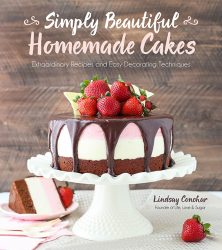 Cover of the cookbook, Simply Beautiful Homemade Cakes