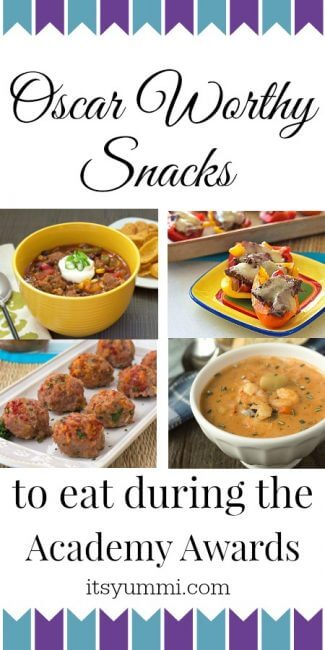 Best Snacks for the Oscars AND Best Picture Nominee Review | ItsYummi.com | snack recipes | appetizers | Academy Awards | Oscars